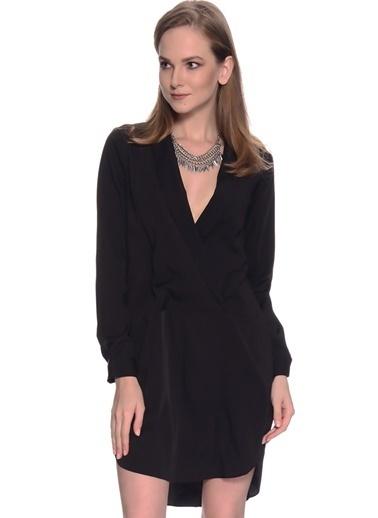 Missguided Missguided Siyah V Yaka Kadın Elbise Siyah